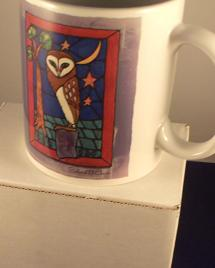 Unique Stained Glass Art Blank Greetings Card The Resting Place Owl